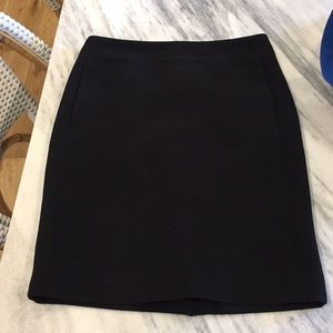 J. Crew black pencil skirt with pockets size 0